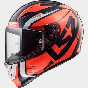 Casco LS2 ARROW C EVO STING Azul Fluo Naranja