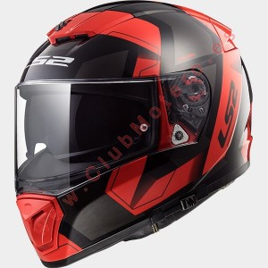 Casco LS2 BREAKER PHYSICS NEGRO ROJO