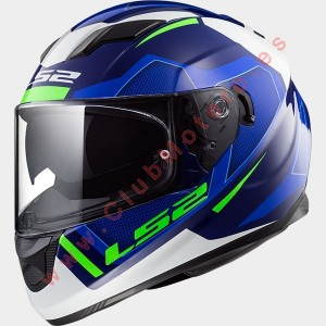 Casco LS2 STREAM EVO AXIS BLANCO AZUL