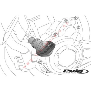 Protectores de motor R12 PUIG Honda CB300F ( 2015 - 2016 )