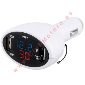 Voltimetro - Termometro - USB
