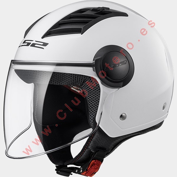 Casco LS2 AIRFLOW L OF562 SOLIDO BLANCO
