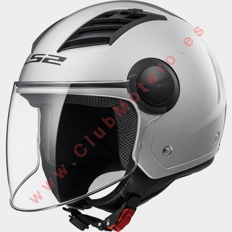 Casco LS2 AIRFLOW L OF562 SOLIDO PLATA