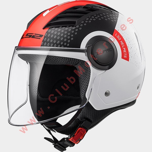 Casco LS2 AIRFLOW L OF562 CONDOR BLANCO NEGRO ROJO