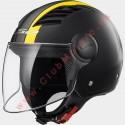 Casco LS2 AIRFLOW L OF562 METROPOLIS MATE NEGRO AMARILLO