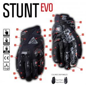 Guantes Five Stunt EVO Negro